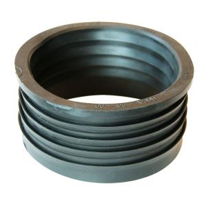 4 inch Service Weight Cast Iron Hub x 4 inch Sch. 40 PVC Compression Coupling by