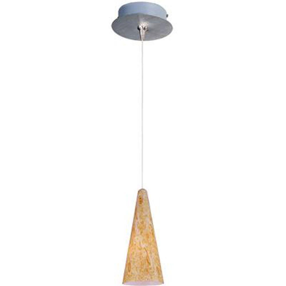 null Lava 1-Light Satin Nickel RapidJack Pendant and Canopy