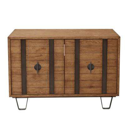 Homefare Metal Strap Light Oak 2-Door Console