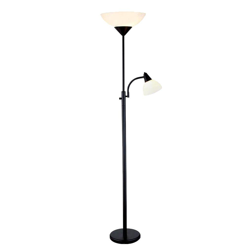 Adesso piedmont 71 in black combo floor lamp 7202 01 the home depot black combo floor lamp aloadofball Gallery