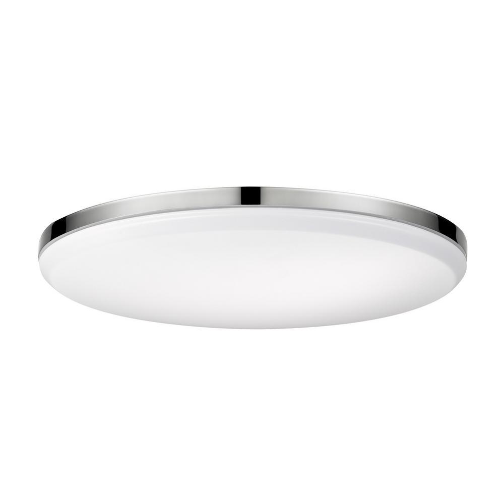 Led Ceiling Light Globe: Globe Electric Ellington 28-Watt Chrome Integrated LED