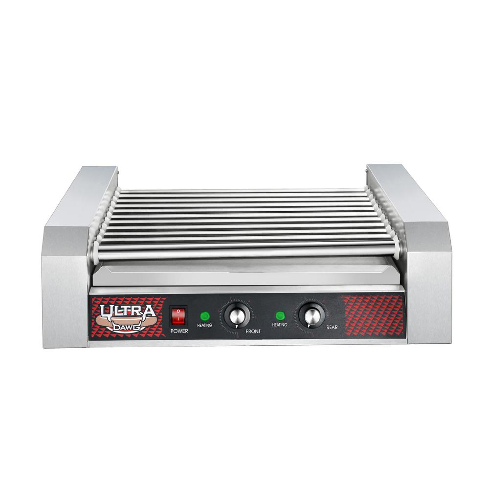 Commercial 1650-Watts 30-Hot Dog 11-Roller Grilling Machine