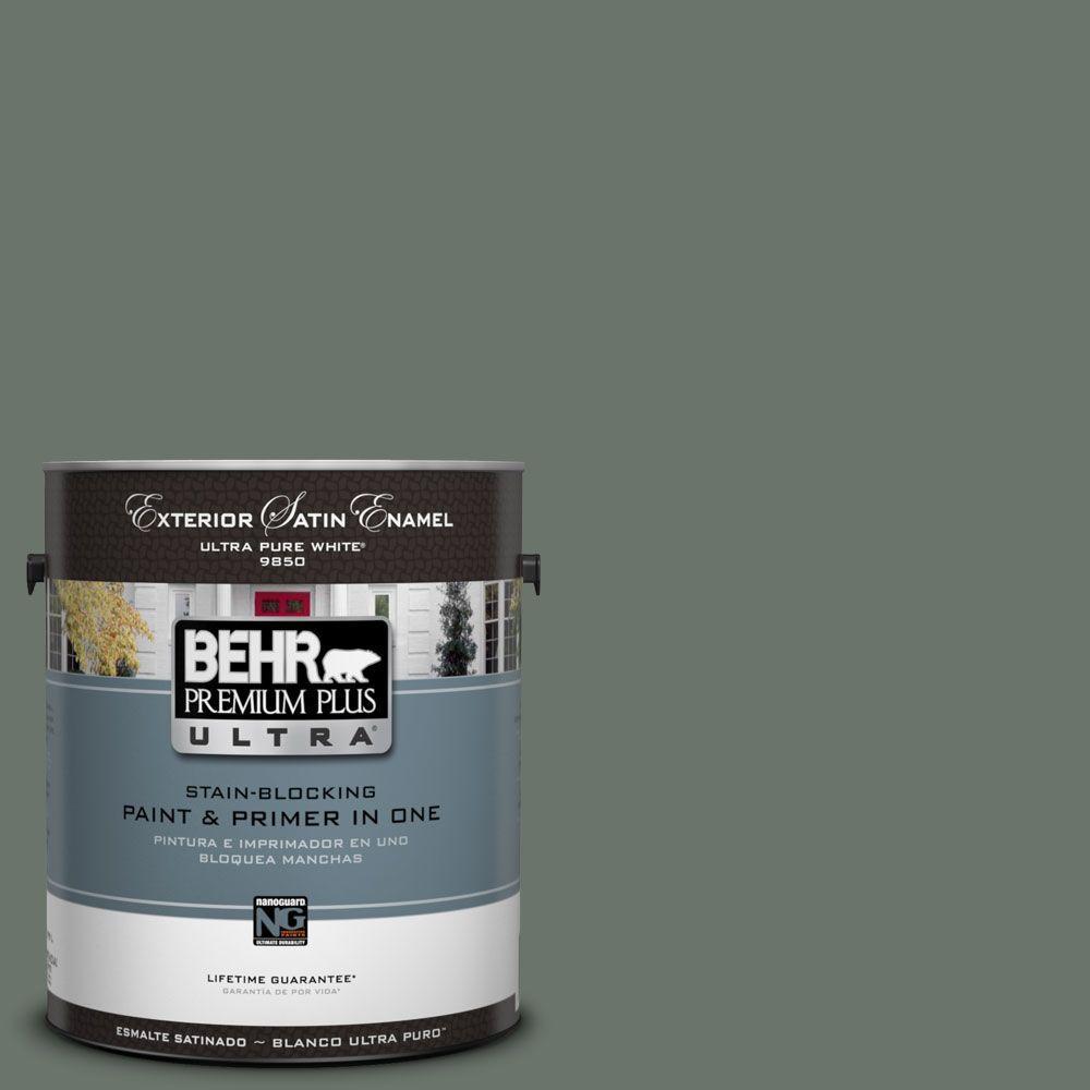BEHR Premium Plus Ultra 1-Gal. #UL210-3 Heritage Park Satin Enamel Exterior Paint
