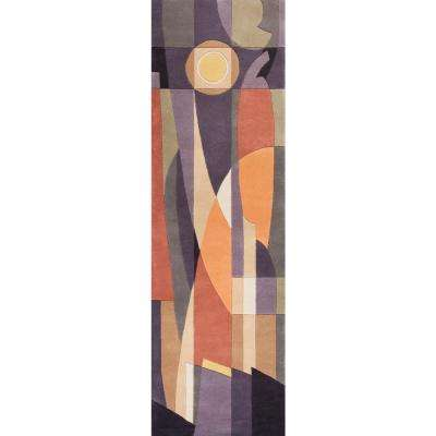 Abstract Sun Pastels 2 ft. x 8 ft. Runner Rug