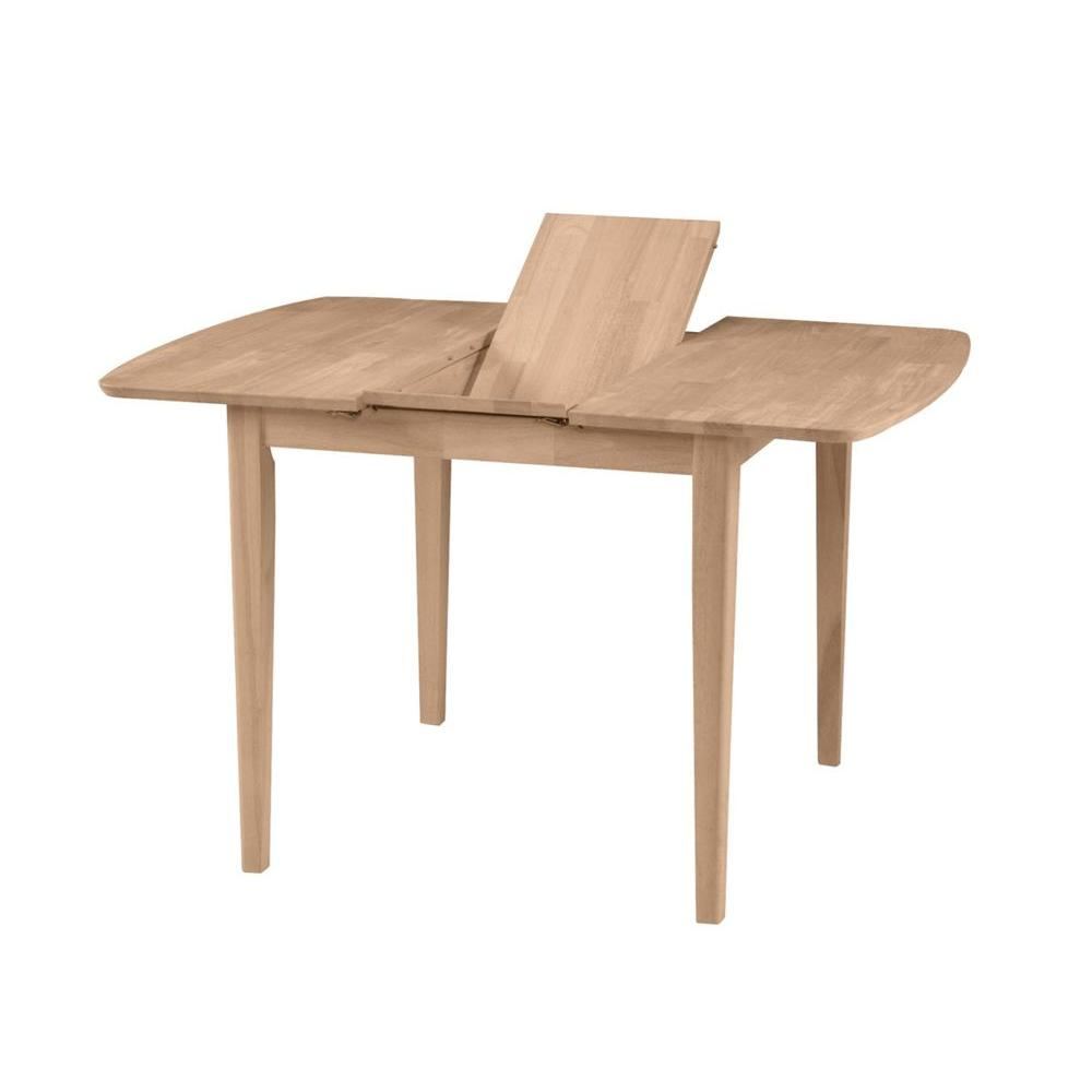 International Concepts Unfinished Shaker Leg Dining Table