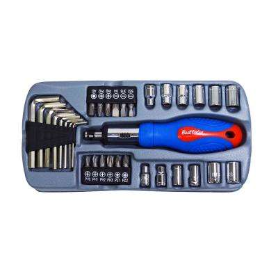 1/4 in. Socket and Tool Set (37-Piece)