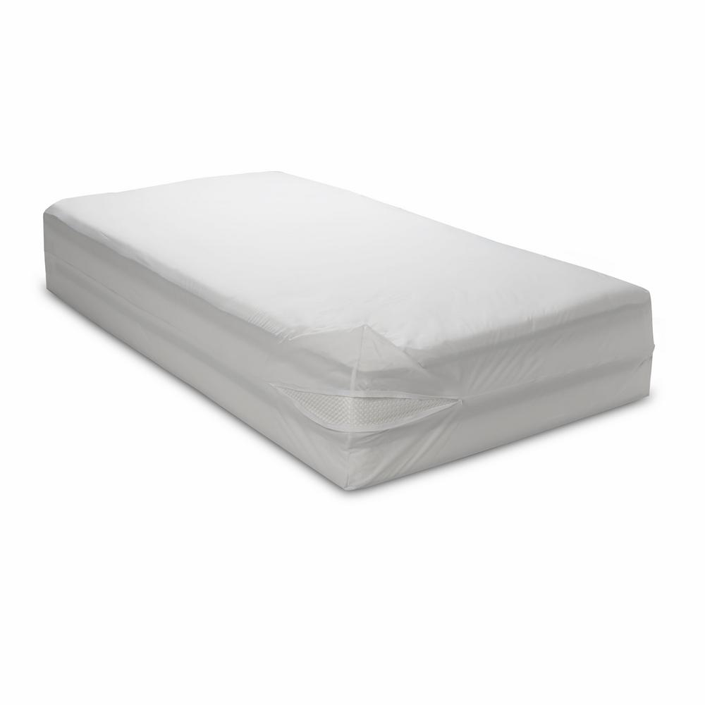 Classic Allergen Polyester 15 in. Deep Long Twin Mattress Cover