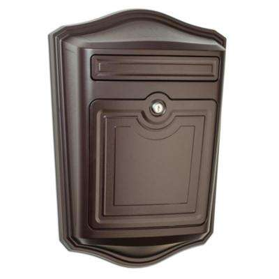 Maison Locking Rubbed Bronze Wall Mount Mailbox