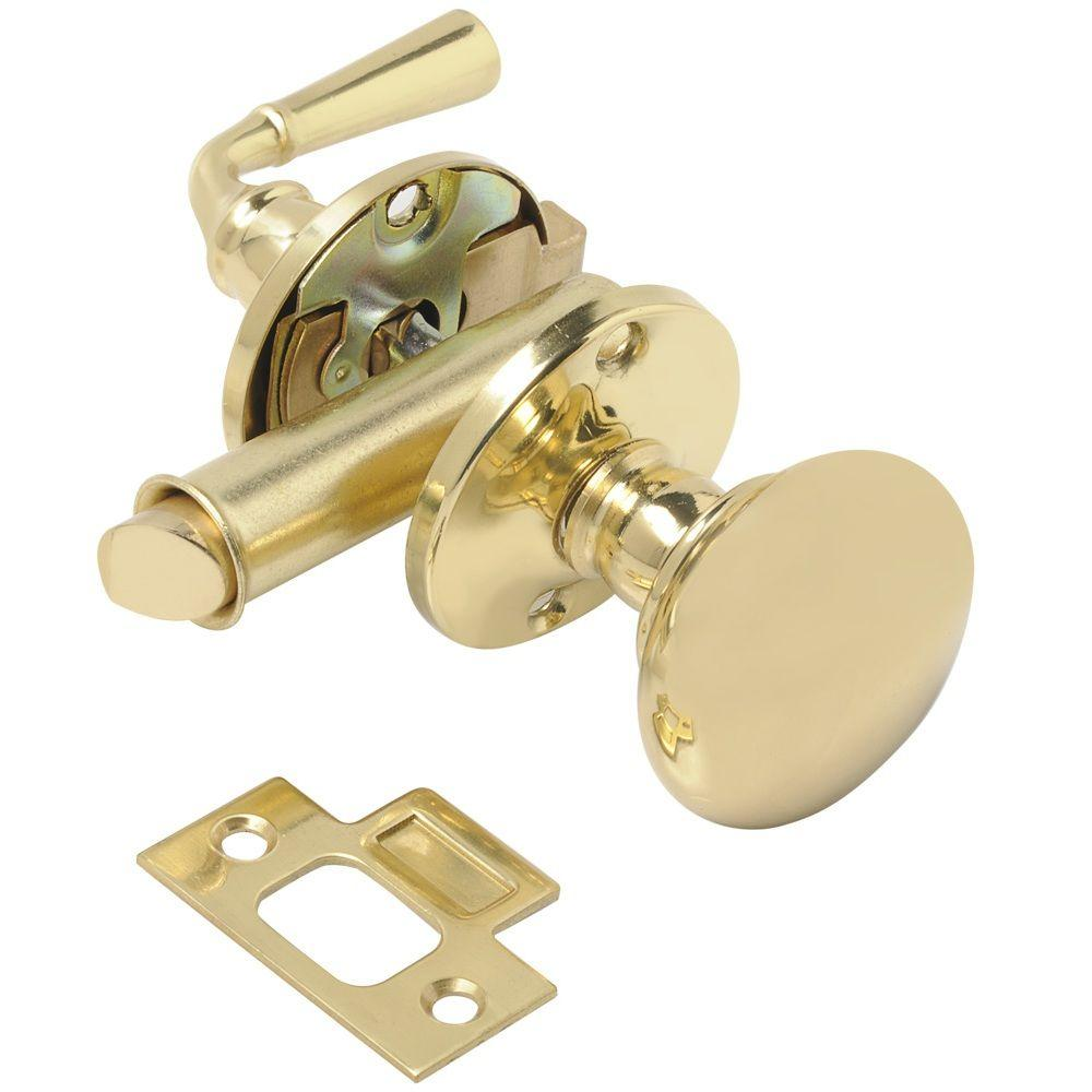 Wright Products Polished Brass Mortise Screen Door Latch