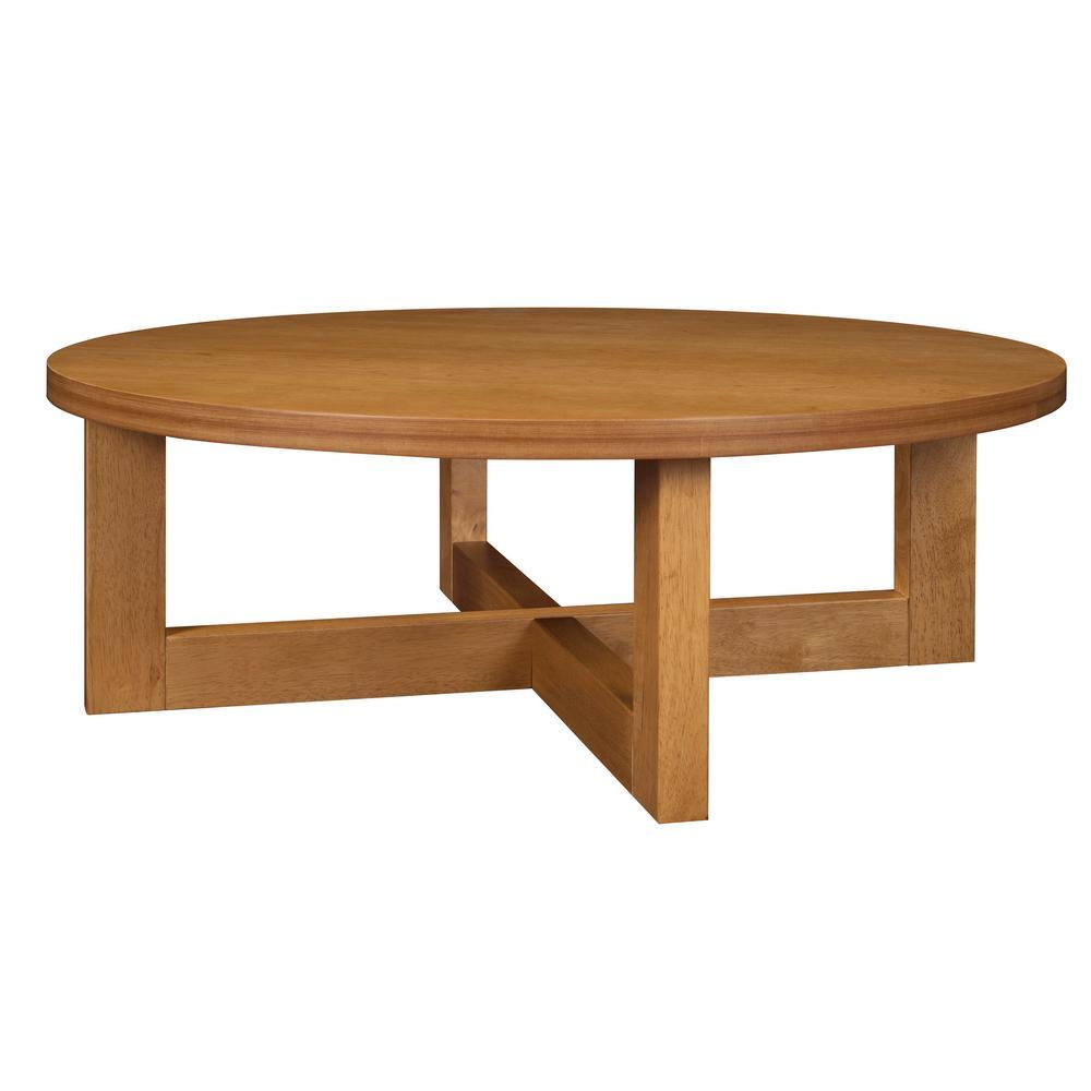 Chloe Medium Oak 37 In Round Coffee Table
