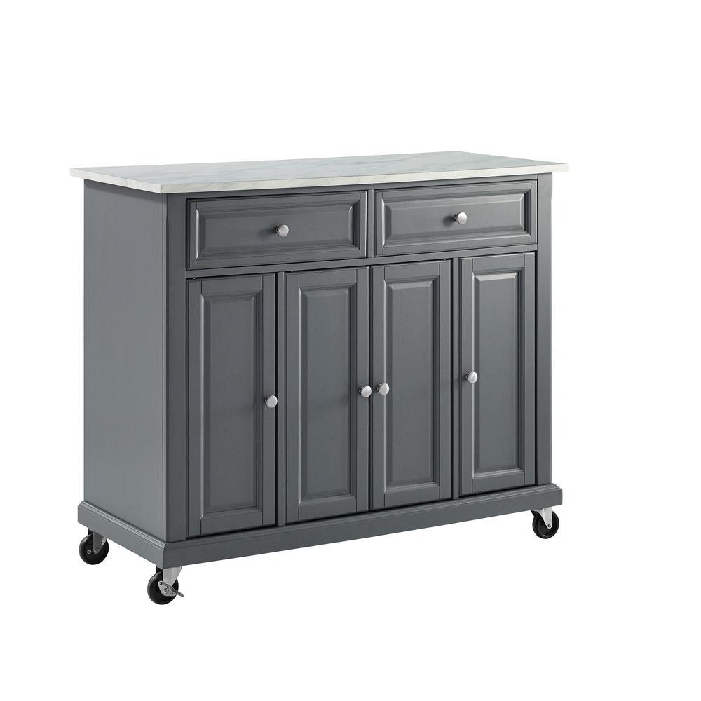 Avery Gray Kitchen Cart