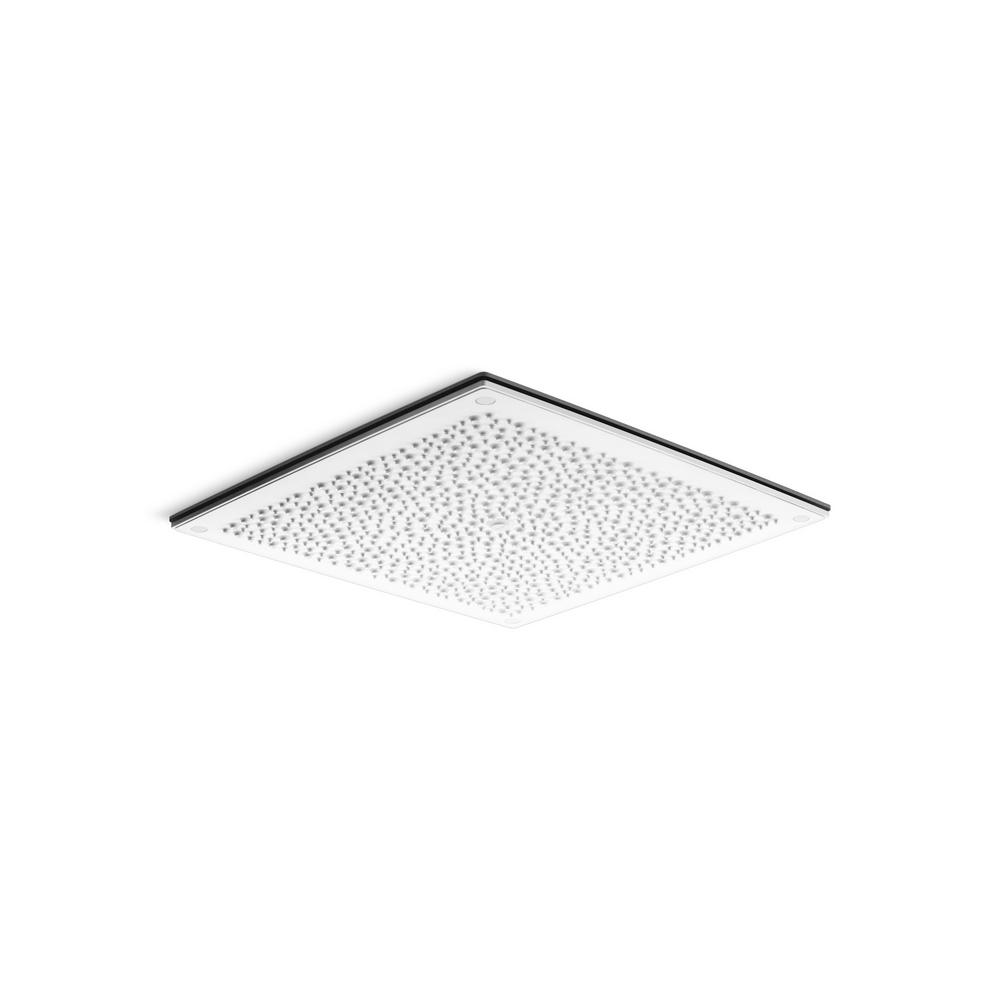 KOHLER Real Rain 1-Spray 19 in. Fixed Showerhead with Overhead Panel in White