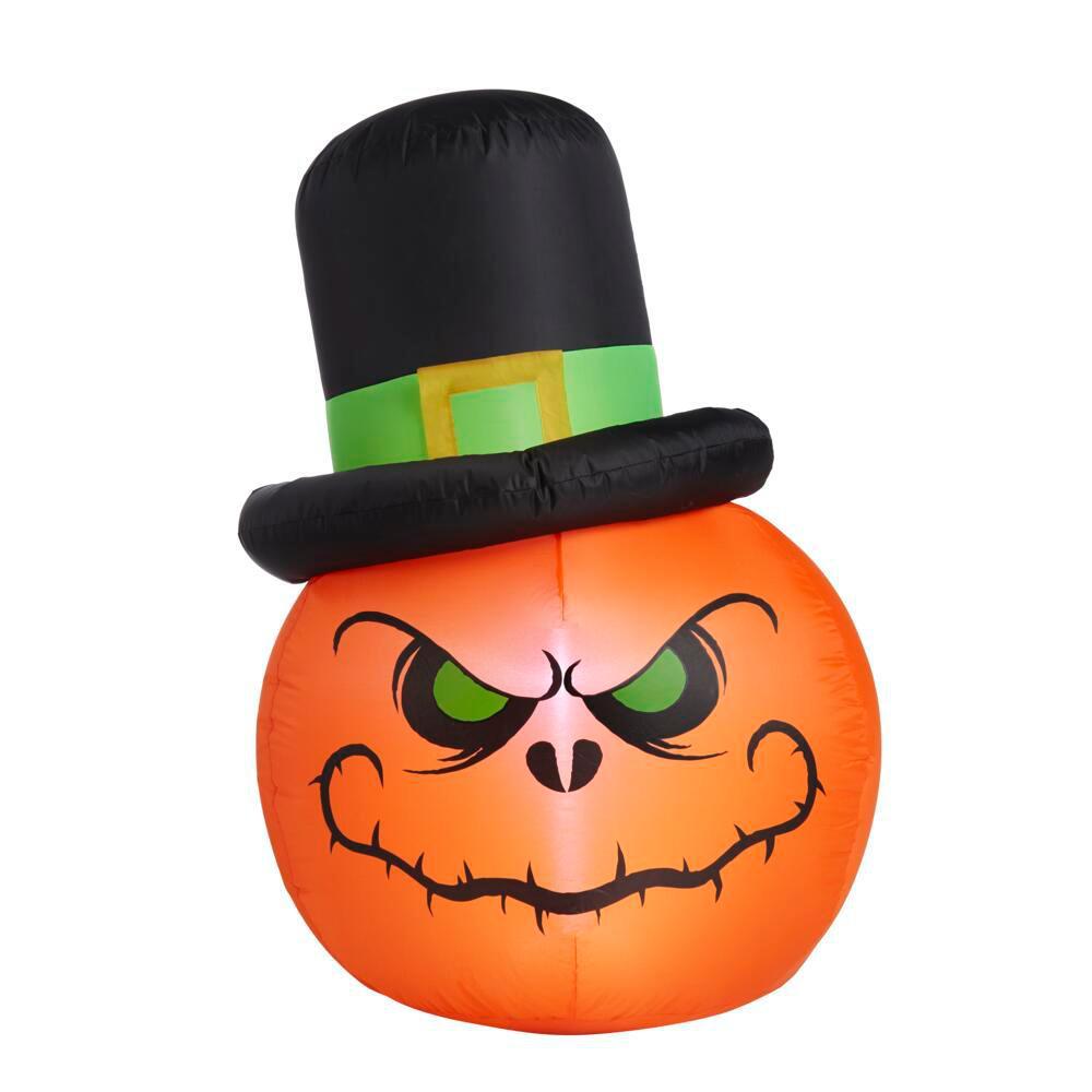 3.5 ft. Ghoulish Reaper Pumpkin Halloween Inflatable