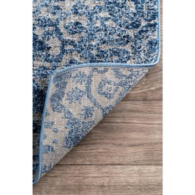 nuLOOM Bellamy Country Floral Blue 5 ft