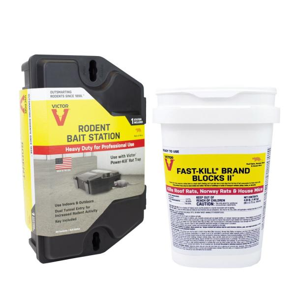 Rodent Bait Station with 4.03 lb. Fast-Kill Rodenticide Bait Blocks