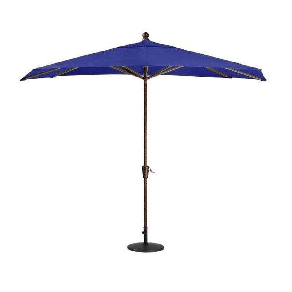 null Sunbrella 10 ft. Patio Umbrella in Blue
