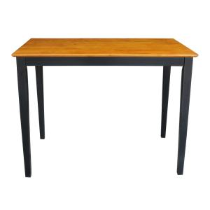 Black and Cherry Solid Wood Counter Table