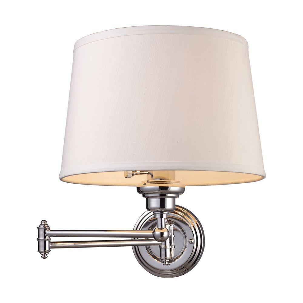 Titan Lighting Westbrook 1-Light Polished Chrome Swing Arm Wall-Mount