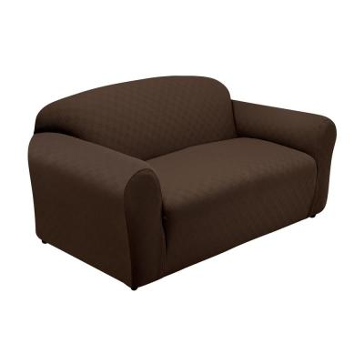 Newport Chocolate Sofa Stretch Slipcover