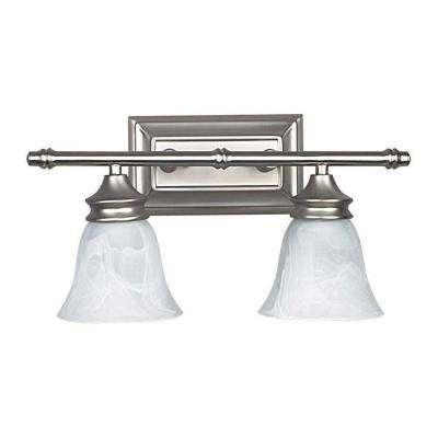 Sequin 2-Light Satin Nickel Bath Vanity Light