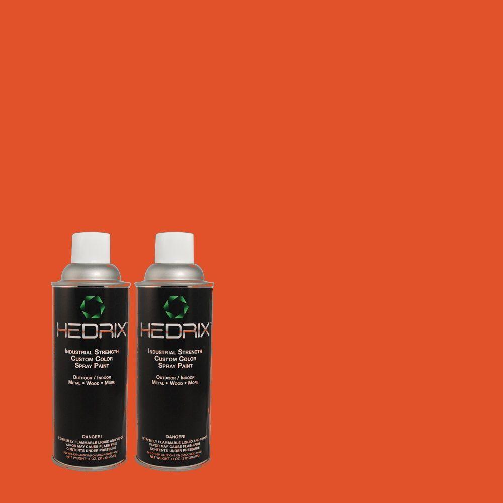 Hedrix 11 oz. Match of 190B-7 Fire Island Flat Custom Spray Paint (2-Pack)