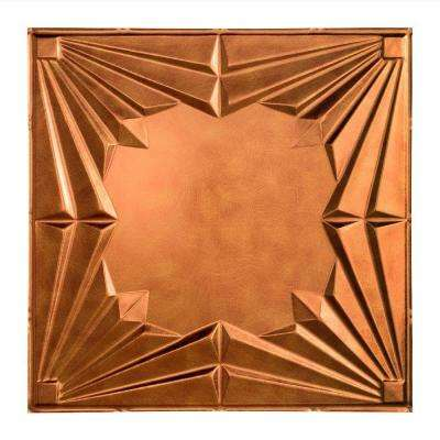 Art Deco - 2 ft. x 2 ft. Lay-in Ceiling Tile in Antique Bronze