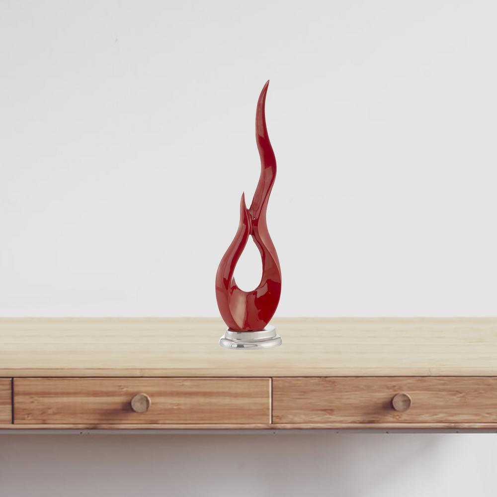 Rosemary Irregular Metal Buffed - Flame Sculpture