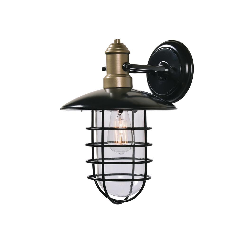 Outlook 1-Light Bronze Outdoor Wall Mount Lantern