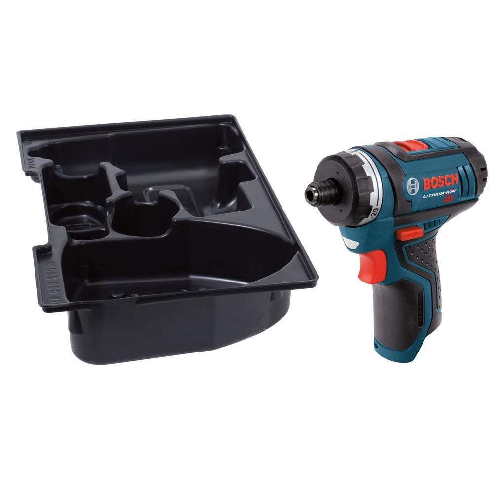 12 Volt Lithium Ion Cordless Electric 1 4 In Hex 2 Sd Pocket Driver With Exact Fit Insert Tray Tool Only