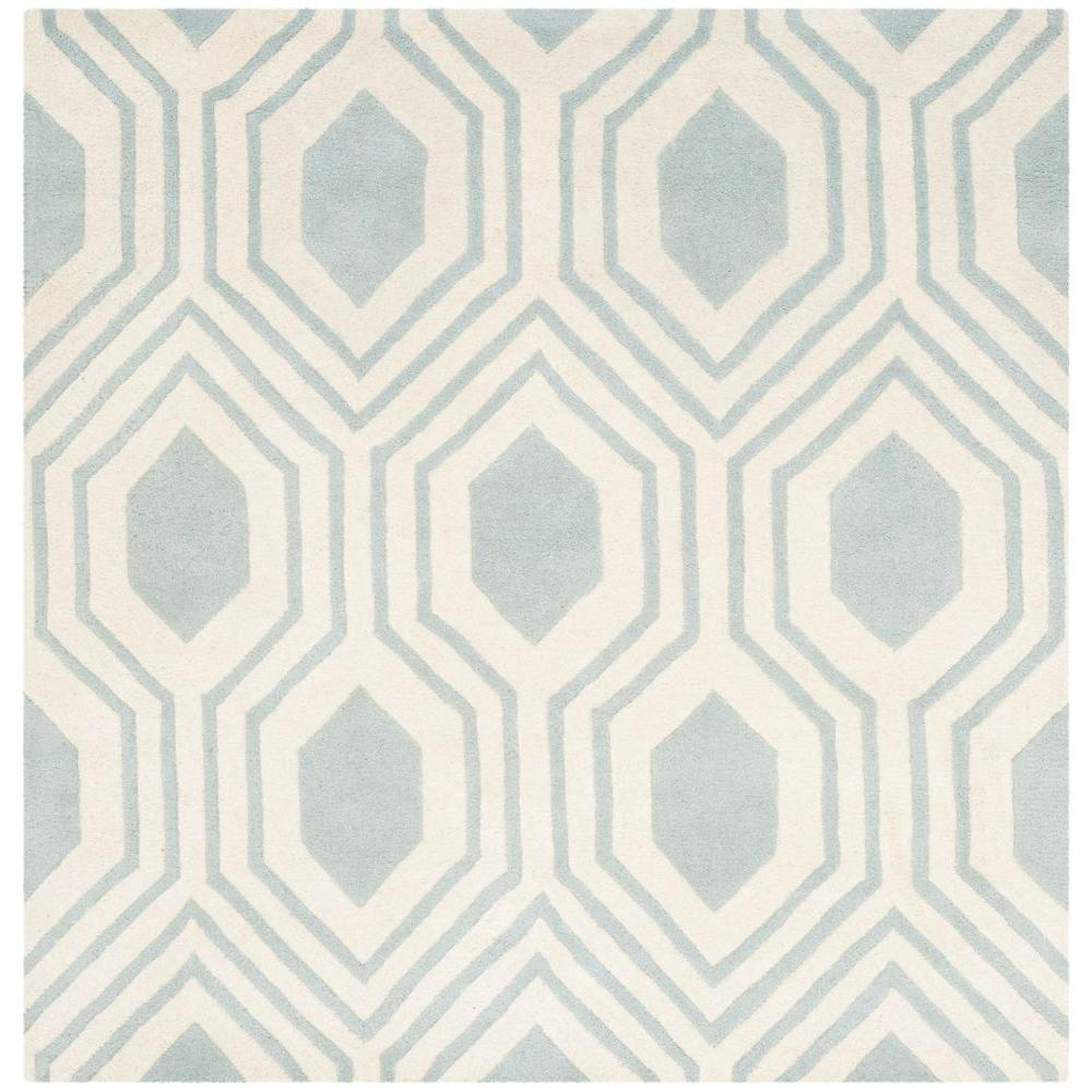 Chatham Grey/Ivory 5 ft. x 5 ft. Square Area Rug
