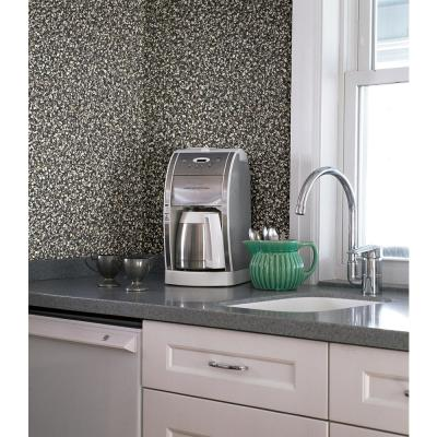 56.4 sq. ft. Aleutian Black Pebbles Wallpaper