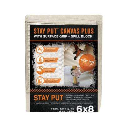 6 ft. x 8 ft. Surface Grip and Spill Block Canvas Drop Cloth