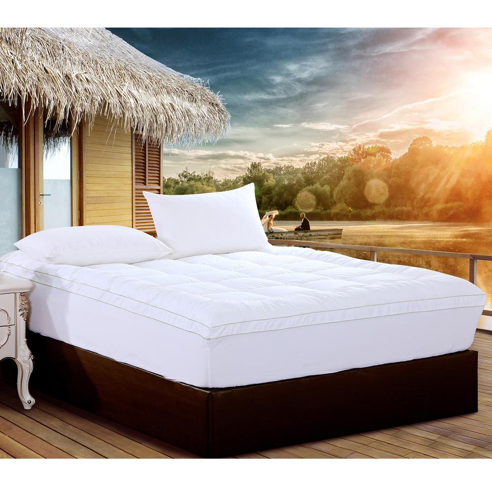Memory Foam Topper Mattress Cover Californ King cal Bed Pad Matress Stretches