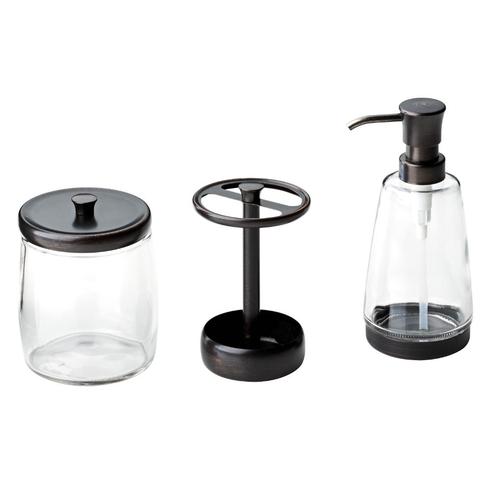 Delta Bathroom Countertop Accessory Kit With Soap Dispenser; Toothbrush  Holder; Storage Container In Venetian