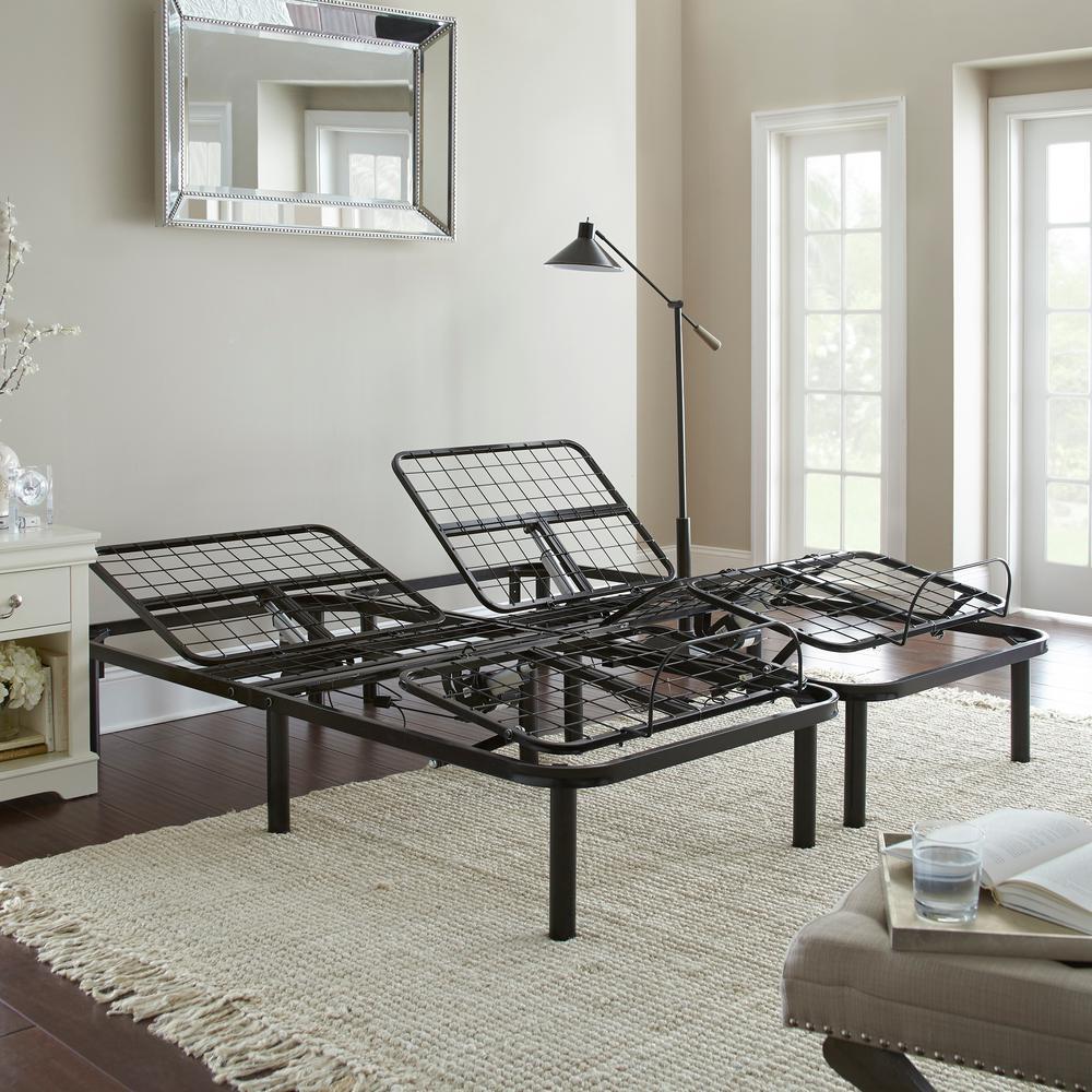 Rest Rest Split King Adjustable Bed Frame Black