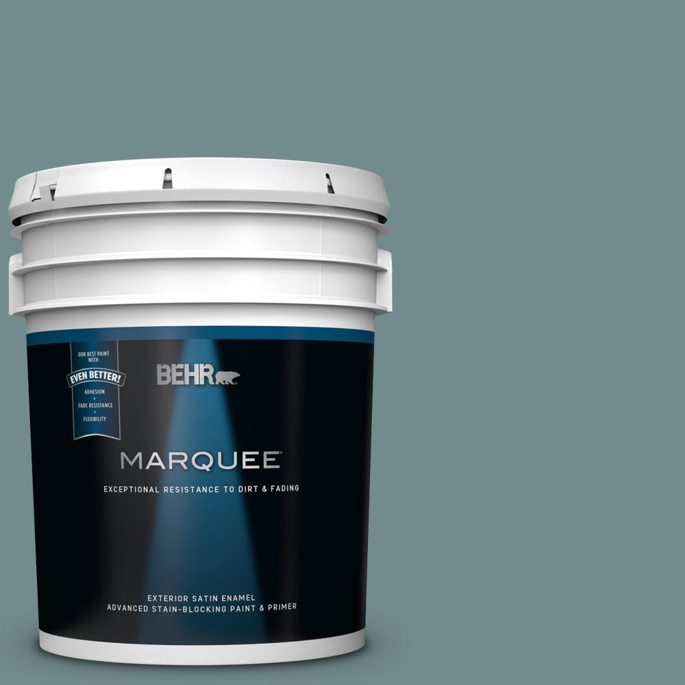Behr Marquee 5 Gal Ppf 46 Leisure Time Satin Enamel Exterior Paint And Primer In One 945305 The Home Depot