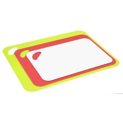 Flexible 3-Piece Plastic Cutting Board Set