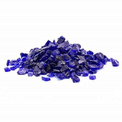 1/2 in. 10 lb. Medium Cobalt Blue Landscape Fire Glass