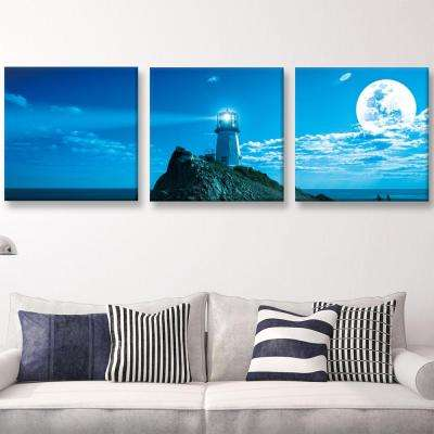 "20 in. x 60 in. ""Guiding Light"" Printed Canvas Wall Art"