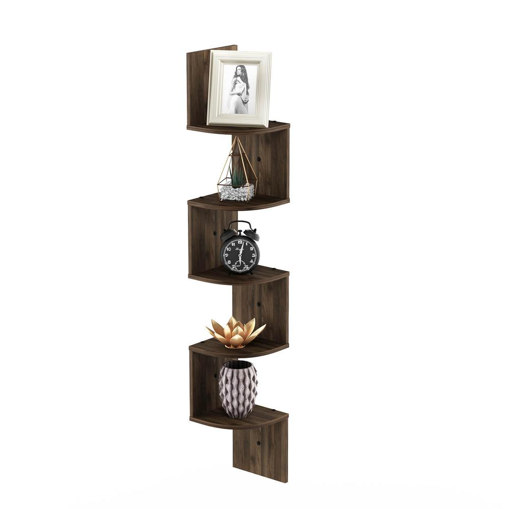 3Tier Corner Mounting Shelf Wall Mount Storage Floating// Wall Corner Shelf White