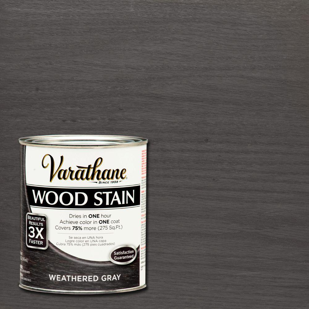 Varathane 1 qt 3X Weathered Gray Premium Wood Stain Case of 2