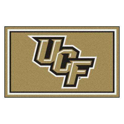 NCAA - University of Central Florida Gold 4 ft. x 6 ft. Area Rug