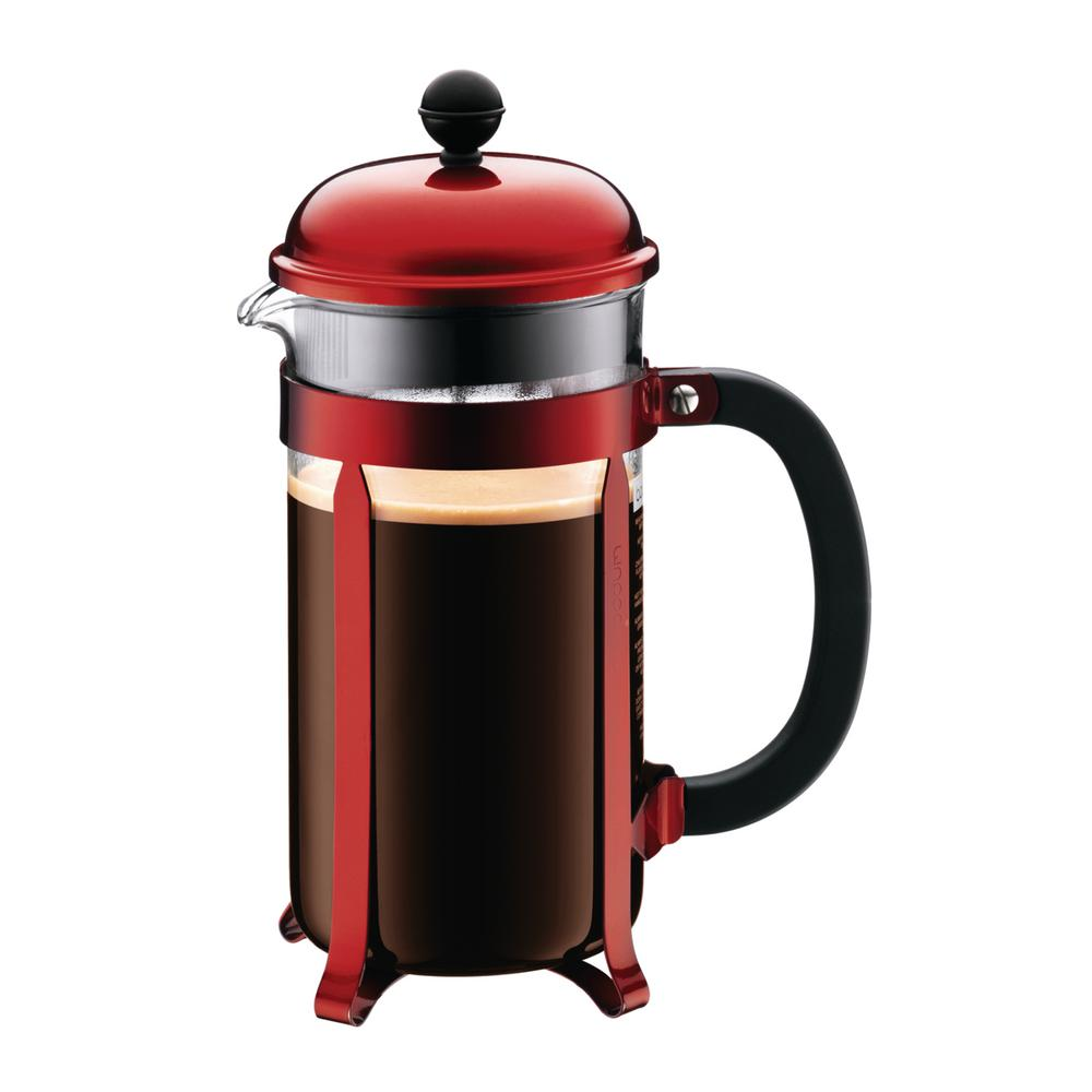 Bodum Chambord 8-Cup Red French Press Coffee Maker-1928-224 - The Home Depot