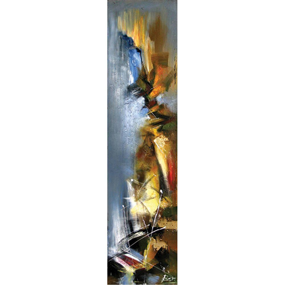 Yosemite Home Decor 20 in. x 79 in. Stormy Weather II Hand Painted Contemporary Artwork