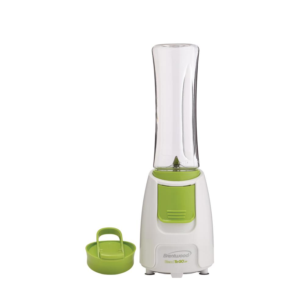 Blend-To-Go Personal Blender, White Blend-To-Go Personal Blender with 1-touch blending action includes a 20 oz. BPA free bottle made with odor and impact resistant TRITAN plastic. Dishwasher safe for easy cleanup. Color: White.