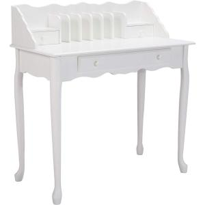 Jasmine 1-Piece White Office Desk