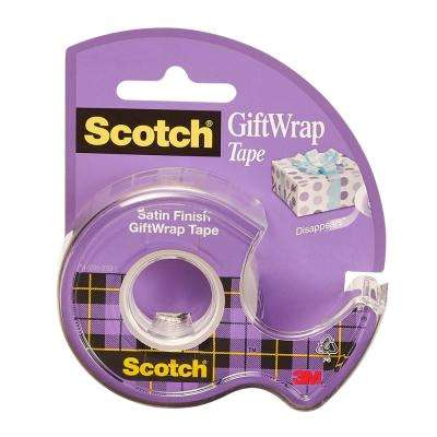 Scotch .75 in. x 650 in. Gift Wrap Tape with Dispenser (Case of 144)