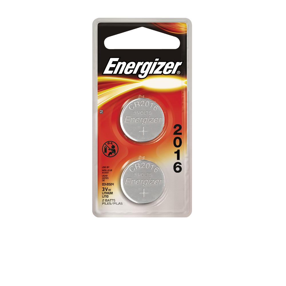Energizer 2016 3-Volt Electronic Watch Battery (2-Pack)