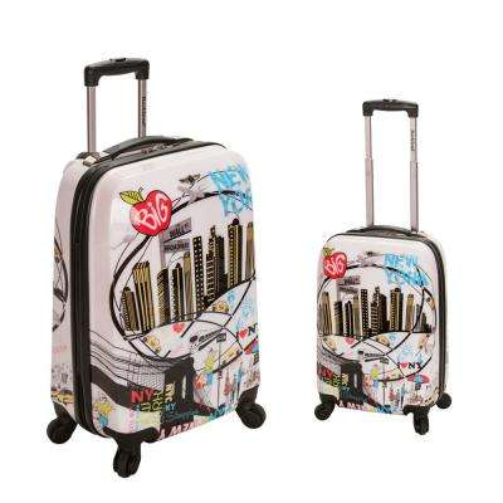 Rockland Traveler 2-Piece Hardside Luggage Set, Newyork