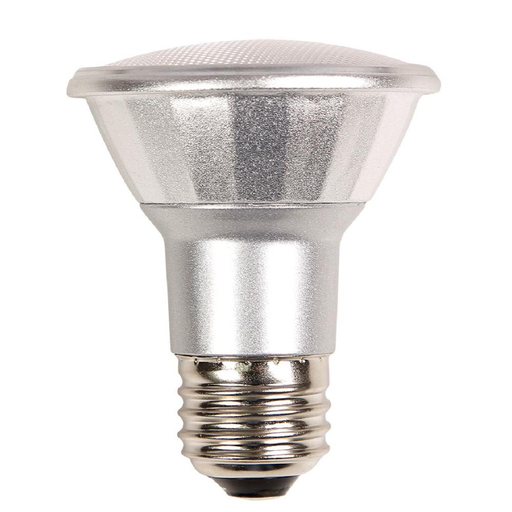 50w Equivalent Warm White Par20 Dimmable Led Light Bulb Par20fl7 827 Eco Led The Home Depot
